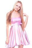 Woman in a pink dress Stock Photos