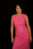 Woman in pink dress Royalty Free Stock Images