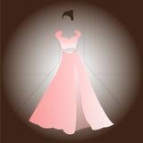 Woman pink dress blouse skirt Stock Image