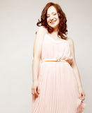 Woman in pink dress. Royalty Free Stock Images