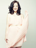 Woman in pink dress. Stock Photography