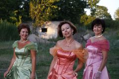 Woman, Pink, Dress, Lady Stock Image