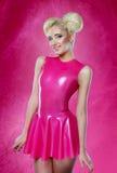 Woman pink dress Stock Photography