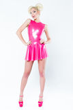 Woman pink dress Royalty Free Stock Images
