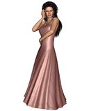 Woman in Pink Evening Dress Royalty Free Stock Photos
