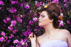 Woman in pink gown Royalty Free Stock Photo