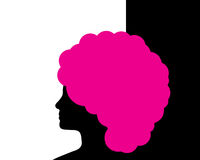 Woman with pink hair Stock Photos