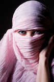 Woman in pink hijab Royalty Free Stock Photos