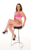 Woman in pink lingerie Royalty Free Stock Image