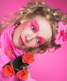 Woman in pink. Stock Photography