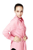 Woman in pink shirt Stock Photography