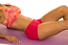 Woman in pink sports outfit body Royalty Free Stock Photography