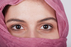 Woman with a pink veil Royalty Free Stock Photos