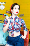 Woman With Pinup Style Royalty Free Stock Photo