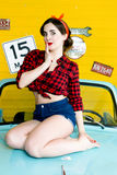 Woman With Pinup Style Stock Images