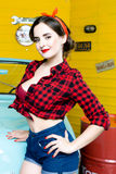 Woman With Pinup Style Royalty Free Stock Photos