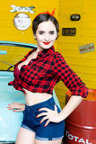 Woman With Pinup Style Stock Photography