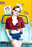 Woman With Pinup Style Stock Photo