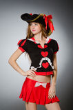 The woman in pirate costume Stock Photography