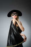 The woman in pirate costume - halloween concept Stock Photography