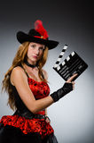 Woman in pirate costume Stock Photos