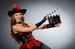 Woman in pirate costume Stock Images
