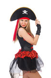 Woman pirate Stock Images