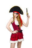 Woman pirate isolated Stock Photos
