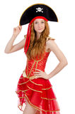 Woman pirate Stock Image