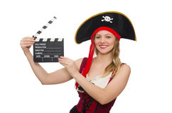 Woman pirate isolated Stock Image