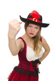 Woman pirate isolated Royalty Free Stock Image