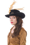 Woman pirate isolated Royalty Free Stock Photos