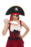 Woman pirate Royalty Free Stock Photo
