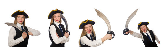 The woman pirate Stock Photos