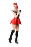 Woman pirate with a sword. Halloween Costume Stock Photography