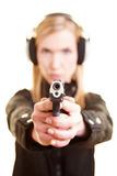 Woman with pistol Royalty Free Stock Photo