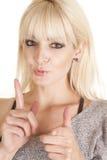 Woman pistol earrings Stock Image