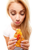 Woman with pizza Royalty Free Stock Photography