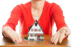 Woman plan and suggest for  good property Stock Photos
