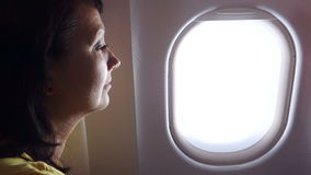 Woman In The Plane stock video