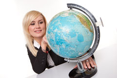 Woman planning her dream holiday Stock Images