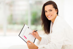 Woman planning pregnancy Royalty Free Stock Photos