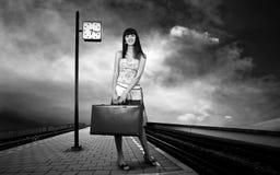 Woman on the platform Stock Image