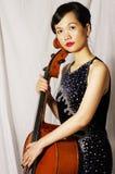 Woman play cello Stock Image