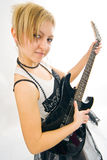 Woman play guitar Royalty Free Stock Photo