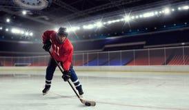 Woman play hockey   . Mixed media Stock Image