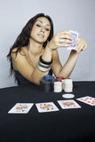 Woman player Royalty Free Stock Images