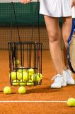 Woman player training tennis Stock Images