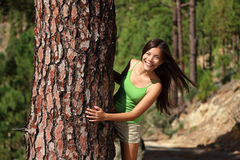 Free Woman Playful In Forest Royalty Free Stock Photography - 17601267