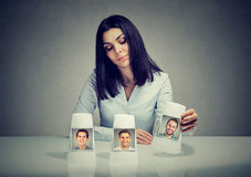 Free Woman Playing A Conjuring Trick Game Making A Boyfriend Choice Royalty Free Stock Photo - 96487165